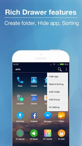 download kk launcher apk android in KK Launcher Mod