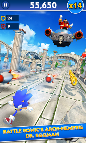 download Sonic Dash android in Game Sonic Dash APK