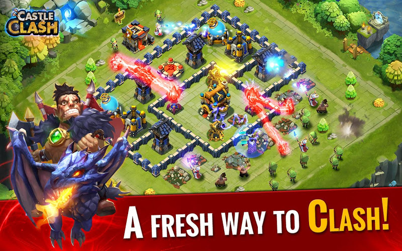 download Castle Clash mod terbaru in Castle clash mod apk