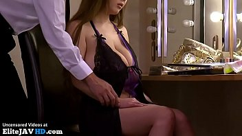 Japanese Milf with huge boobs in lingerie